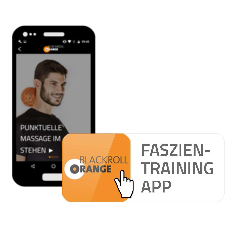 Faszienrolle Pro Booster Booklet /Übungs-Booklet zur Faszienmassage mit Vibration und optionale kostenlose App blackroll-orange Booster-Set PRO inkl